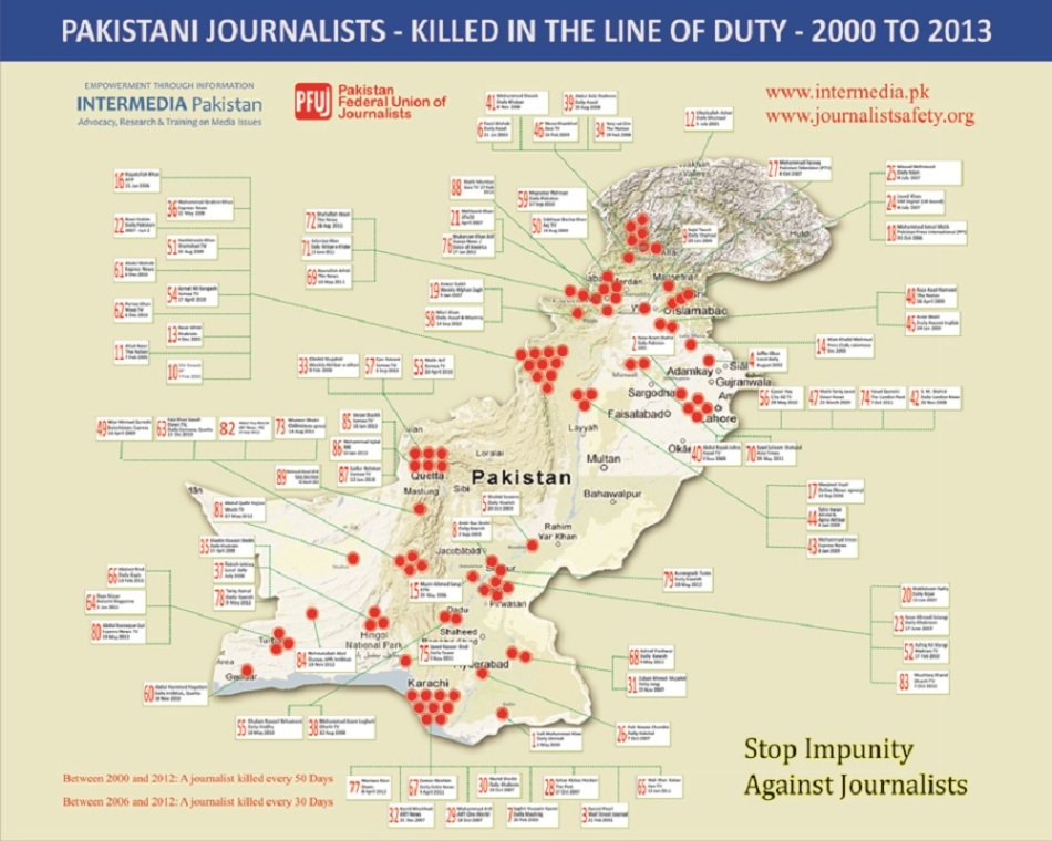 Journalist Casuality Map